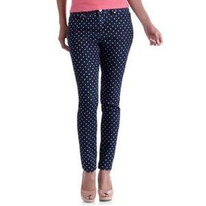 Skinny Ankle Polka Dot Jeans